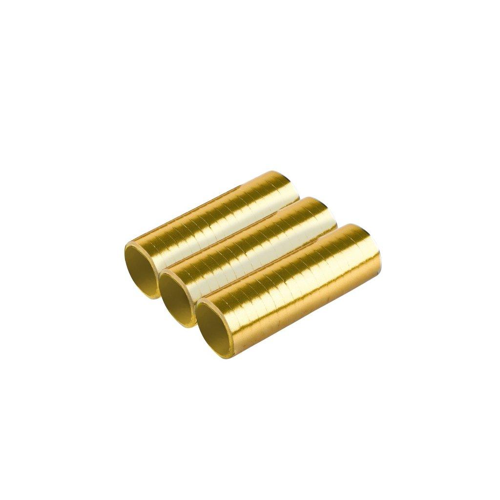 Serpentýny metalické zlaté 3ks
