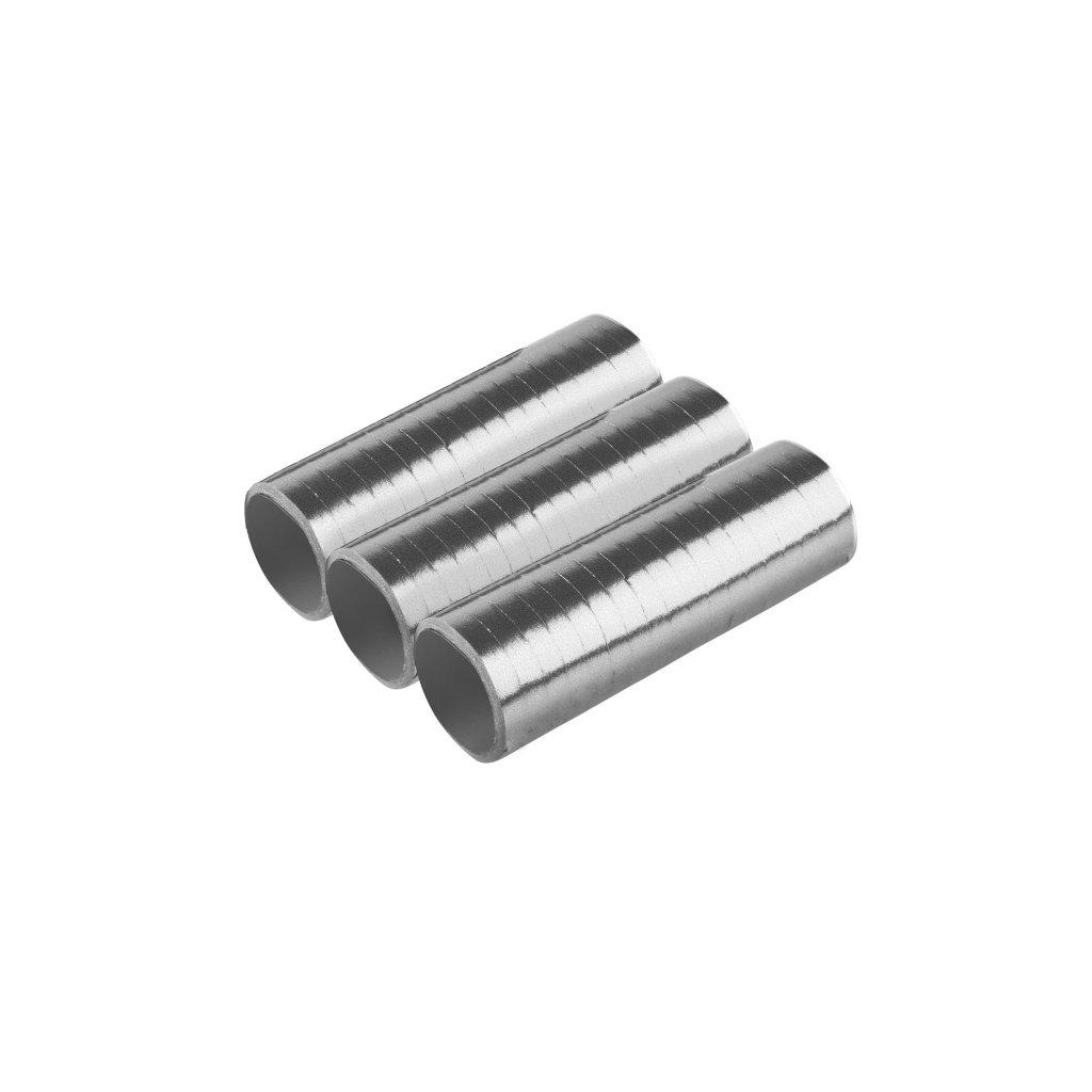 Serpentýny metalické stříbrné 3ks