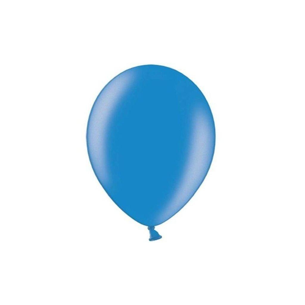 Balonek latexový metalický modrý 30cm 1ks