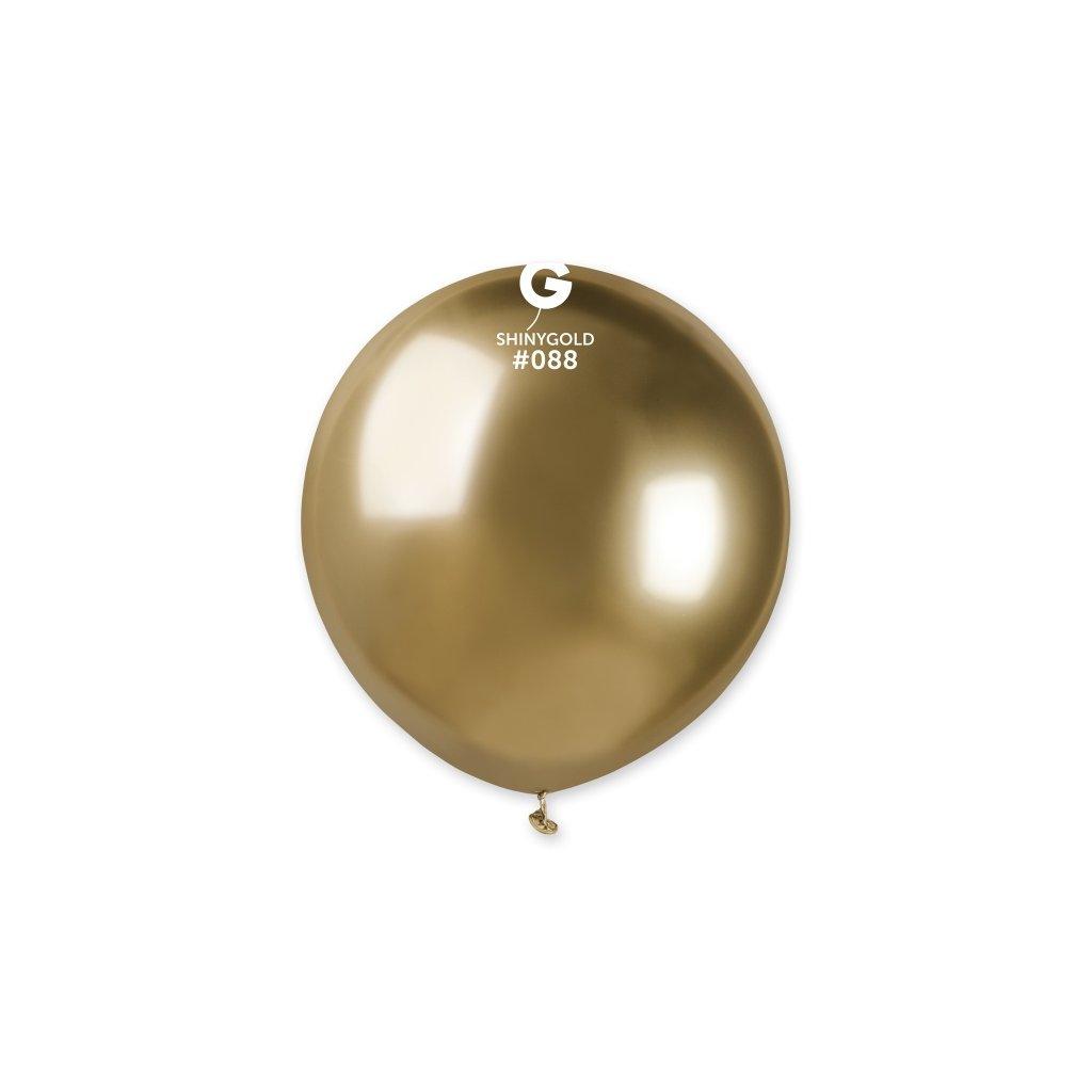Balonek latexový chromový zlatý 48cm 1ks