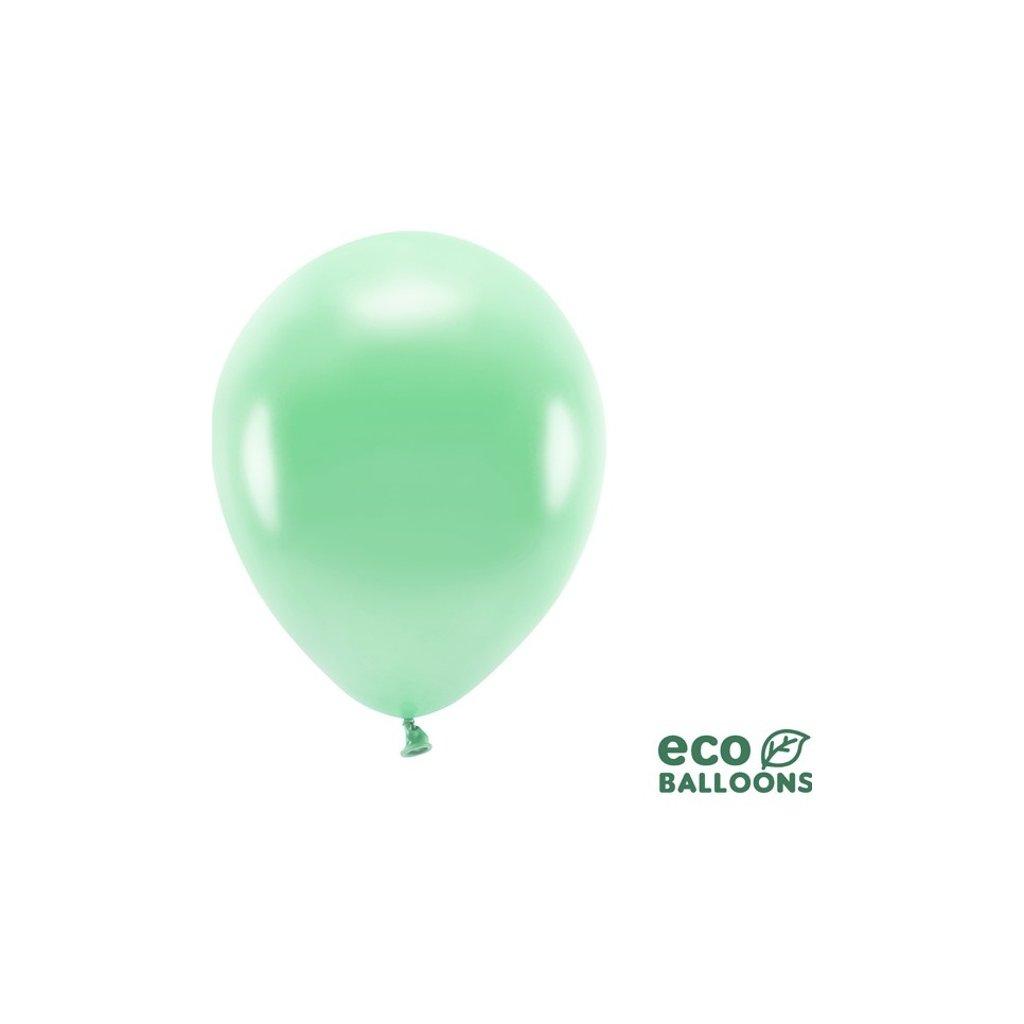 ECO balonky latexové metalické mint 26cm 100ks