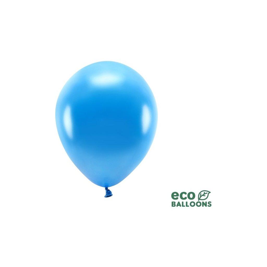 ECO balonky latexové metalické modré 26cm 100ks