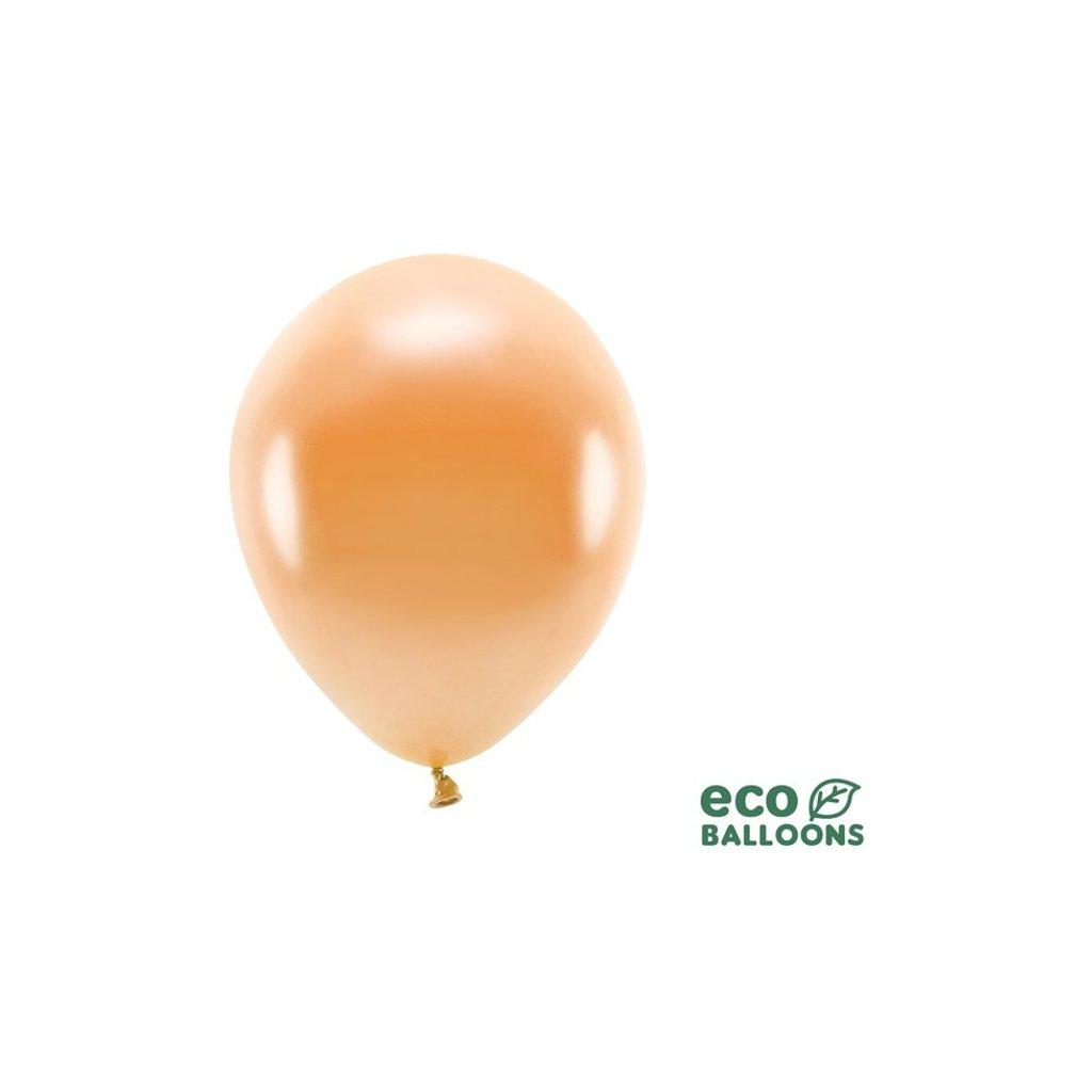 ECO balonky latexové metalické oranžové 26cm 100ks
