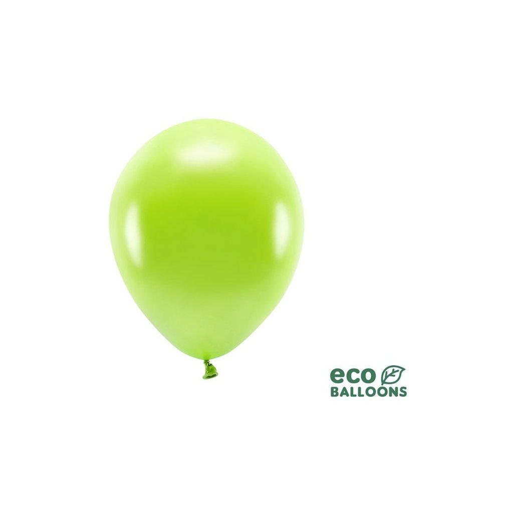 ECO balonky latexové metalické zelené jablko 26cm 100ks