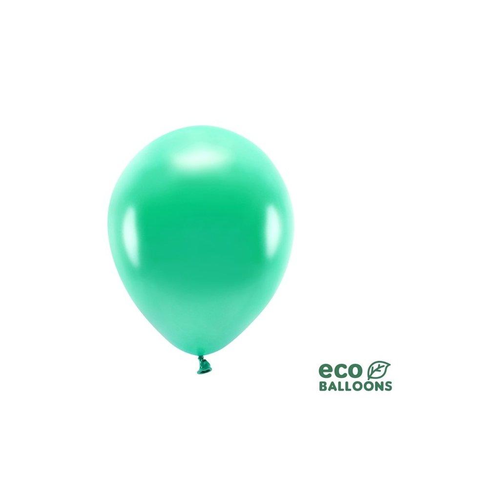 ECO balonky latexové metalické zelené26cm 100ks