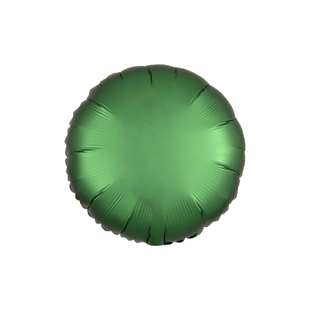Balonek foliový kulatý smaragdový 43cm