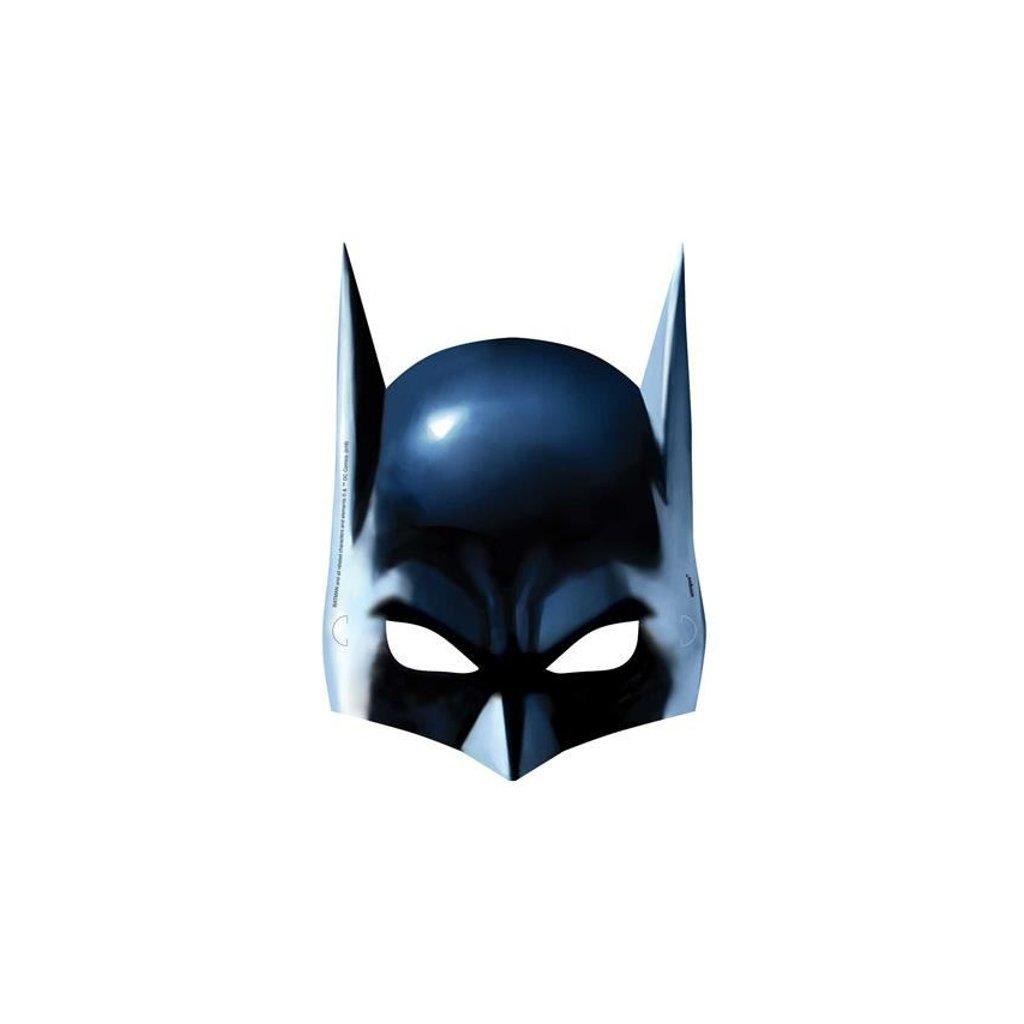 Masky pro děti ve stylu Batman Balení po 8 ks