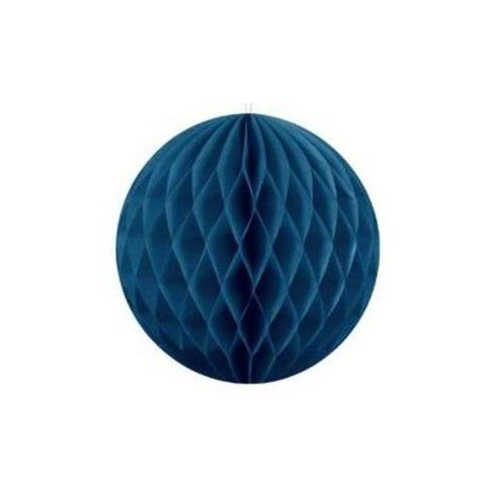 "Koule dekorační "" Honeycomb"" modrá vel. 10cm"