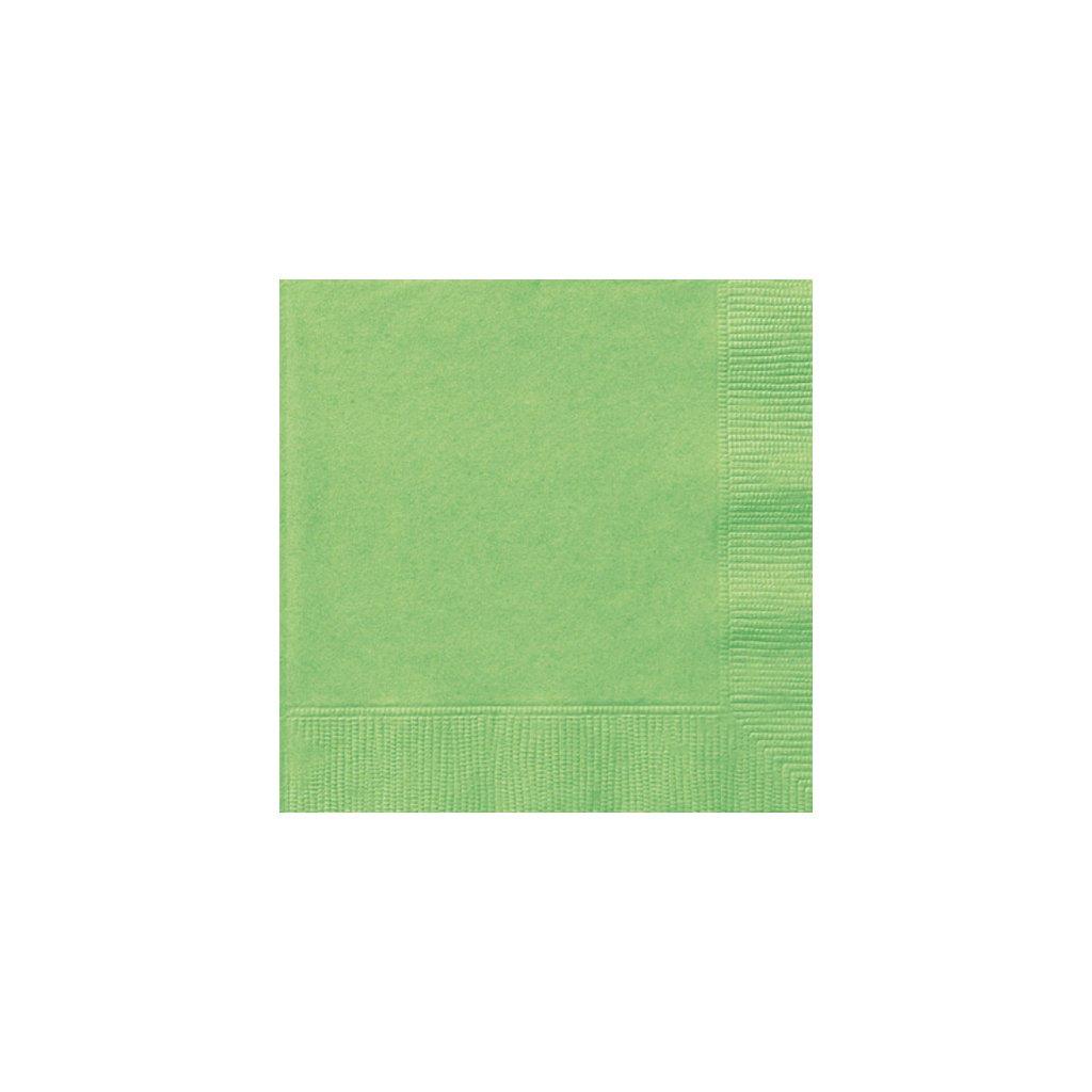 Ubrousky papírové limetkově zelené 33x33cm 20ks