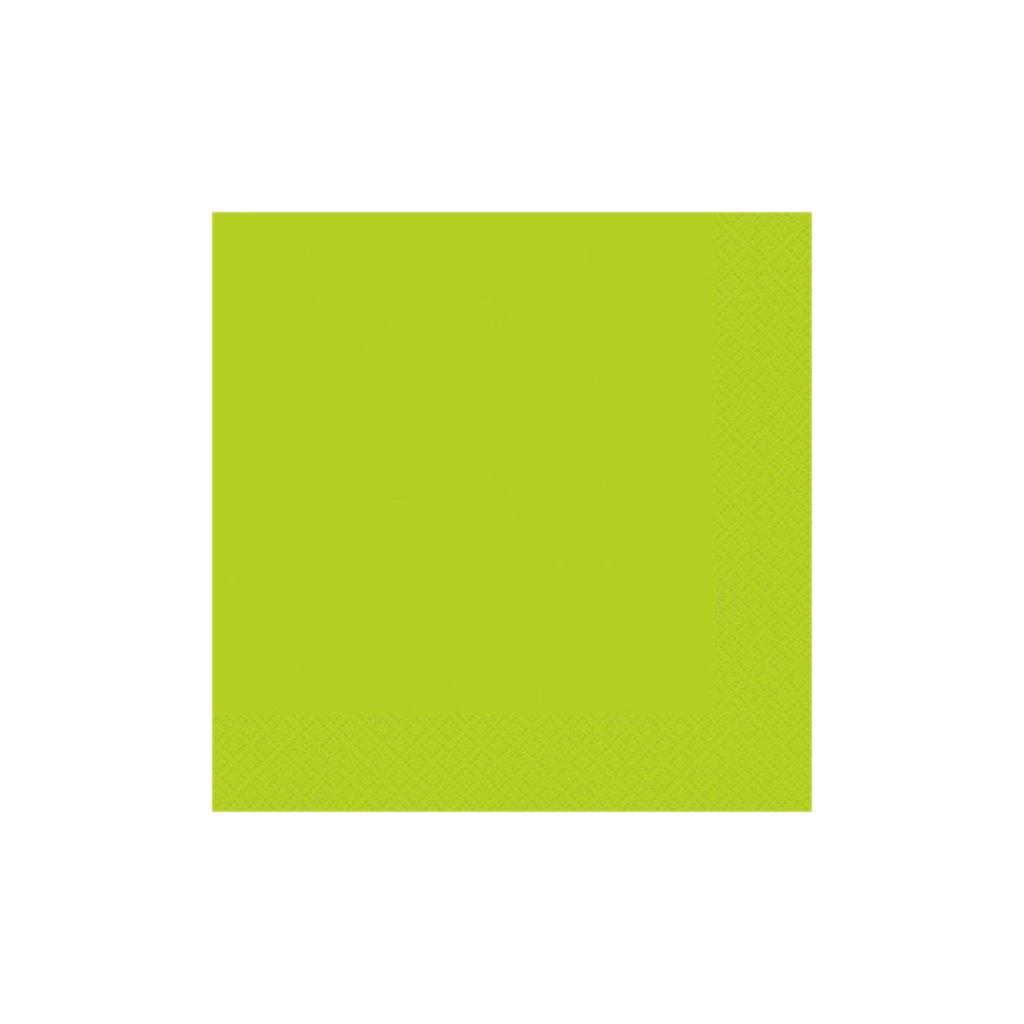 Ubrousky papírové Neon Green 33x33cm 20ks