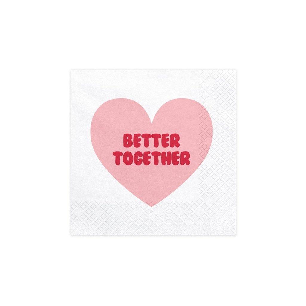 Ubrousky bílé Better Together 33x33cm 20ks