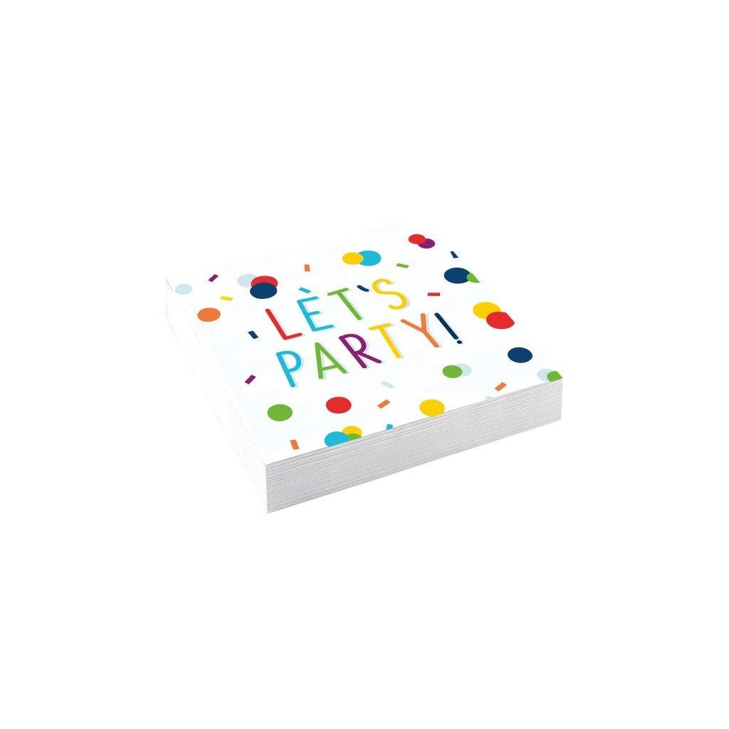 Ubrousky Konfety Let´s Party 25x25cm 20ks