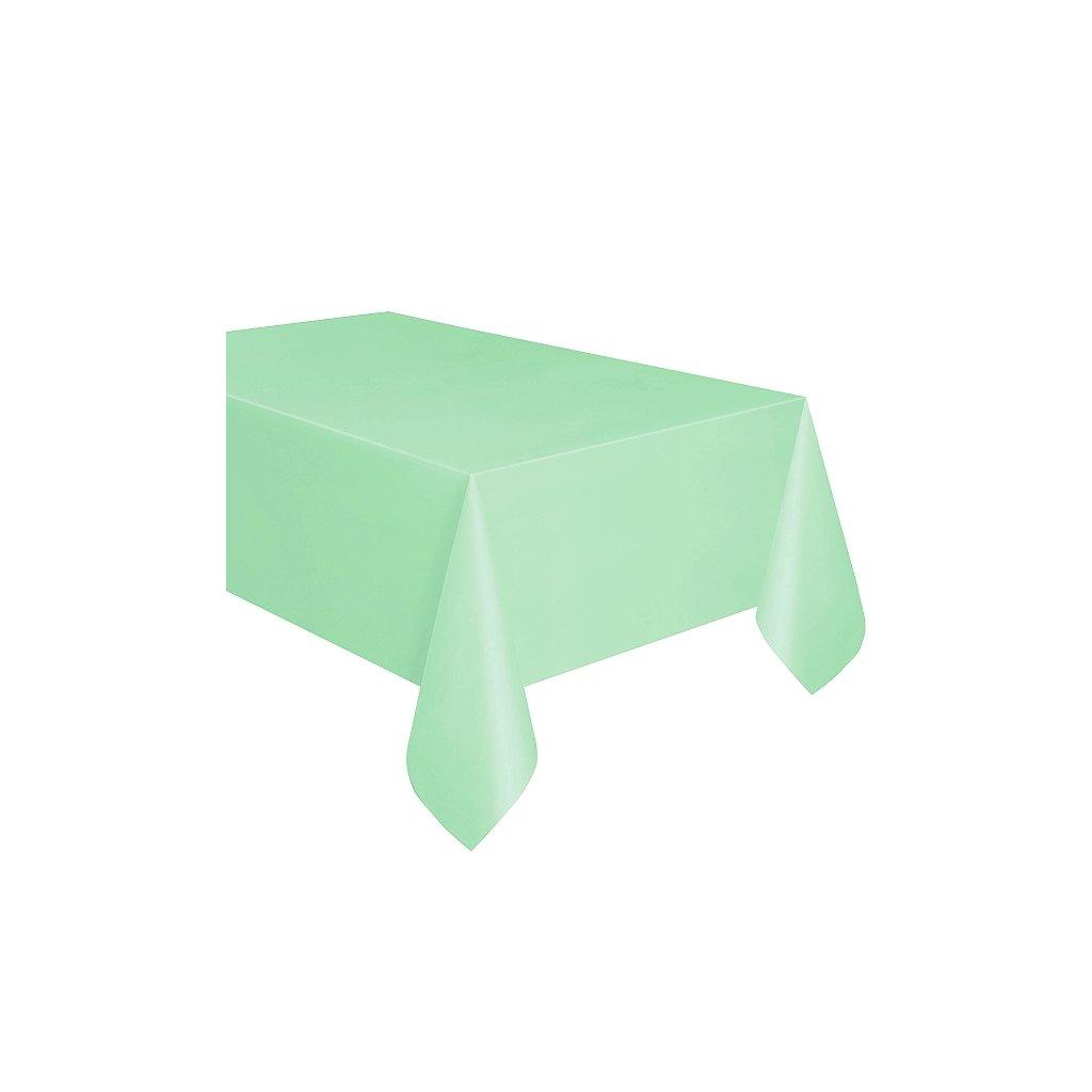 Ubrus plastový mint pro obdélníkový stůl 137x274cm