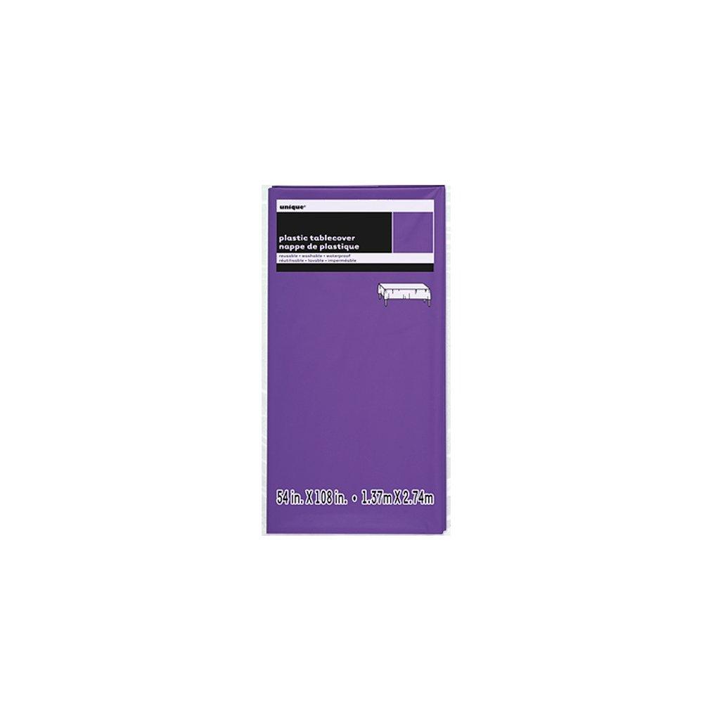 Ubrus plastovýNeon Purple pro obdélníkový stůl 137x274cm