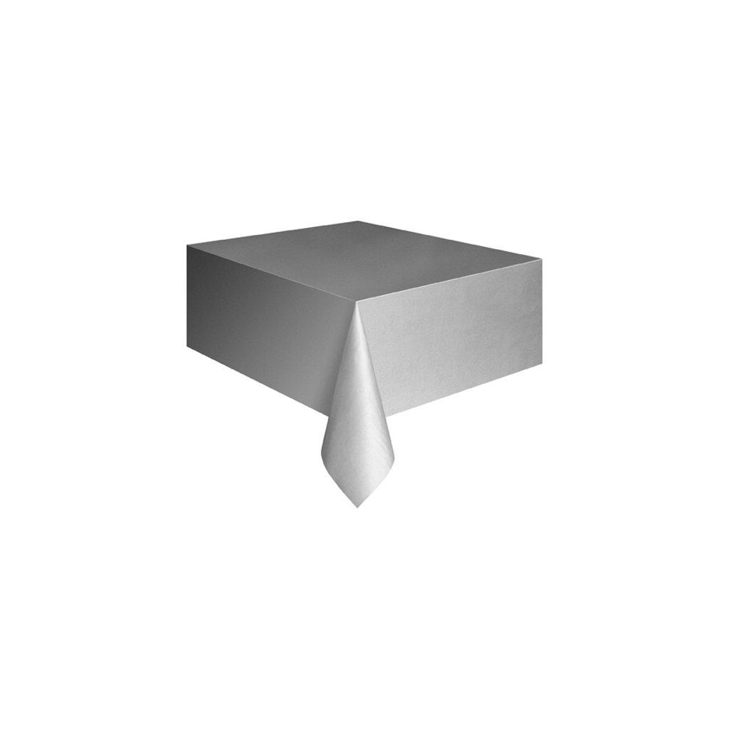 Ubrus plastový stříbrný pro obdélníkový stůl 137x274cm