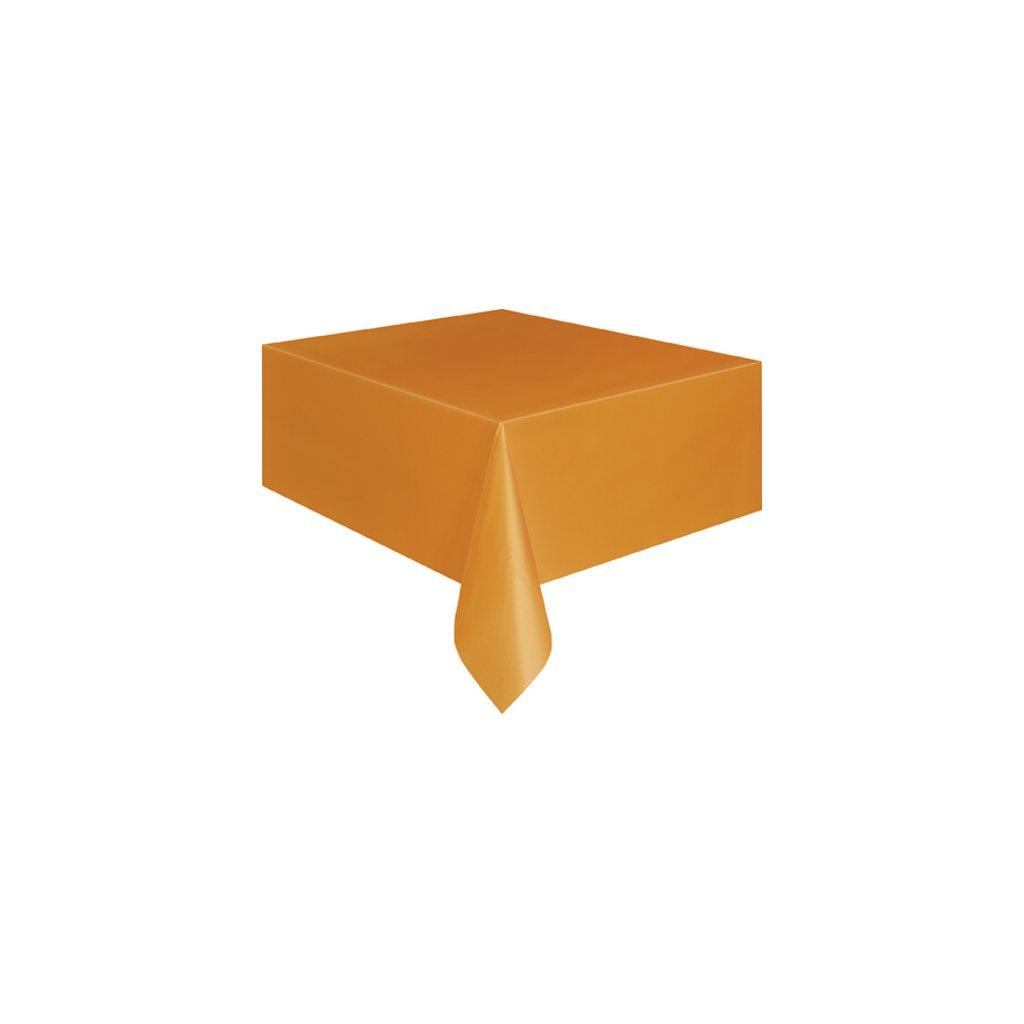 Ubrus plastový oranžový pro obdélníkový stůl 137x274cm