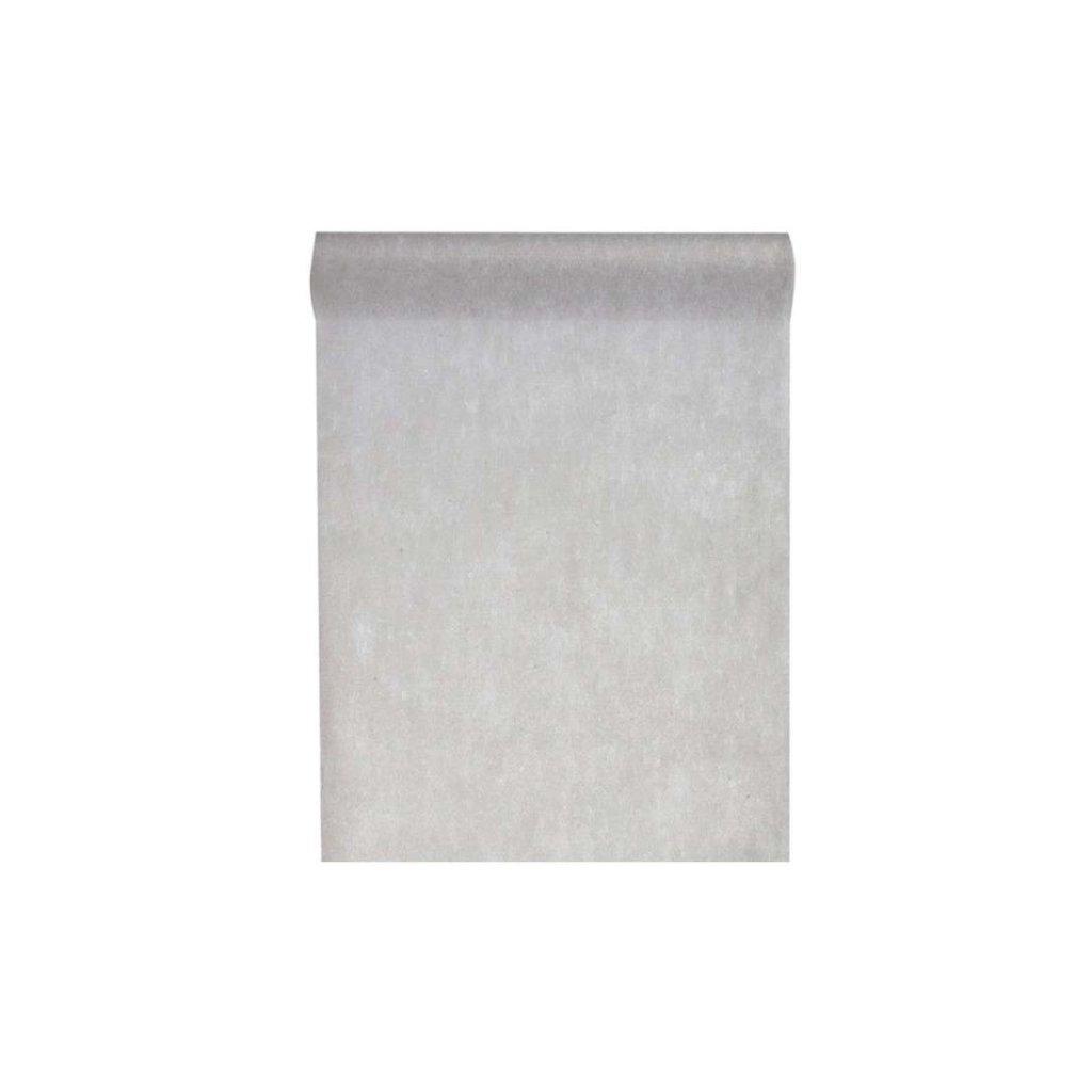 Šerpa na stůl z netkané textilie šedá 30cmx10m