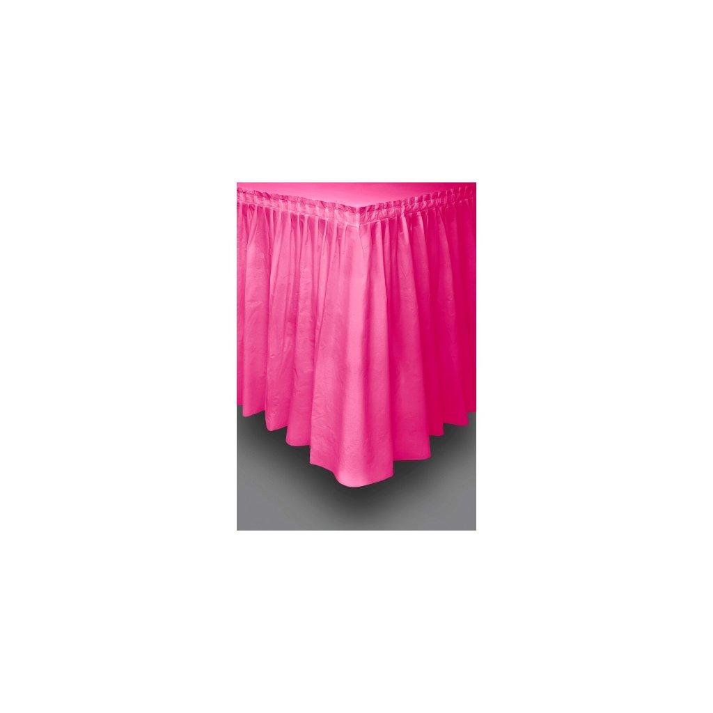 Rautová sukně plastová Hot Pink 73x426cm
