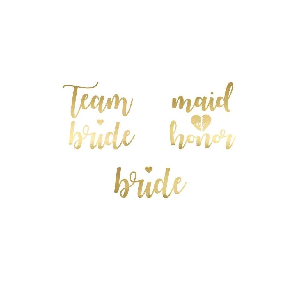 Tetování Team Bride 13ks zlaté