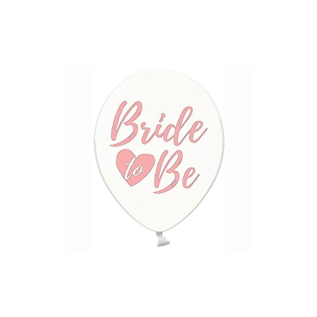 """Balonky latexové transparentní """"Bride to be"""" růžové 30cm 50ks"""