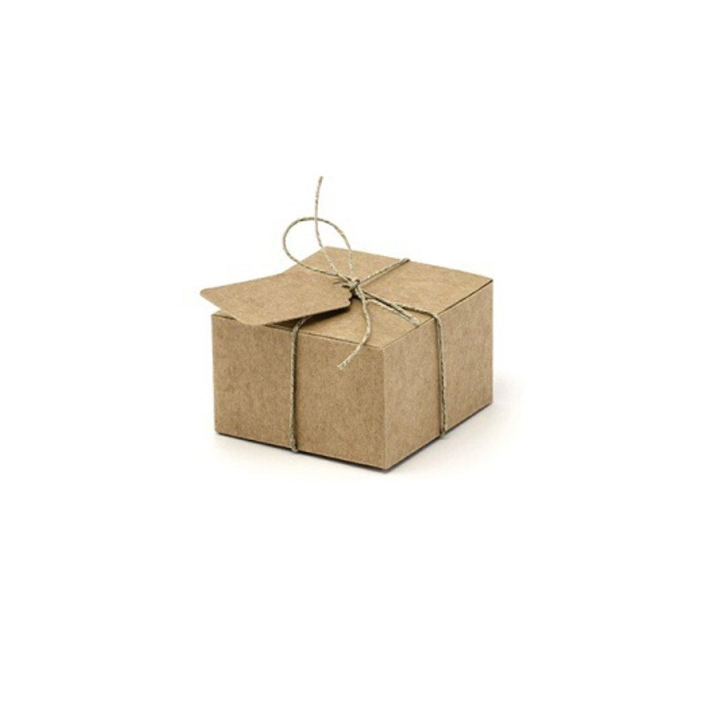 Krabička dárková Nature s jmenovkou 10ks