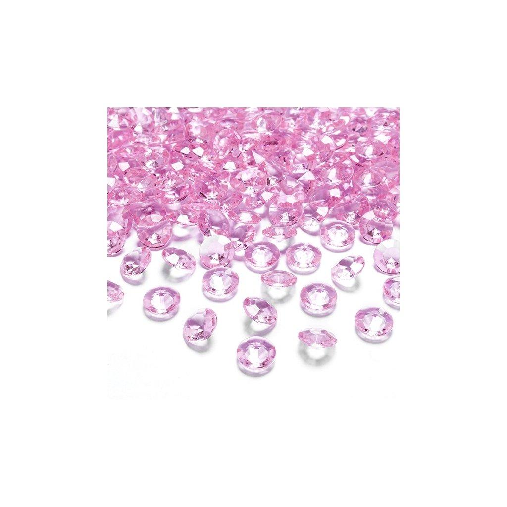 Konfety stolní sv. růžové diamanty