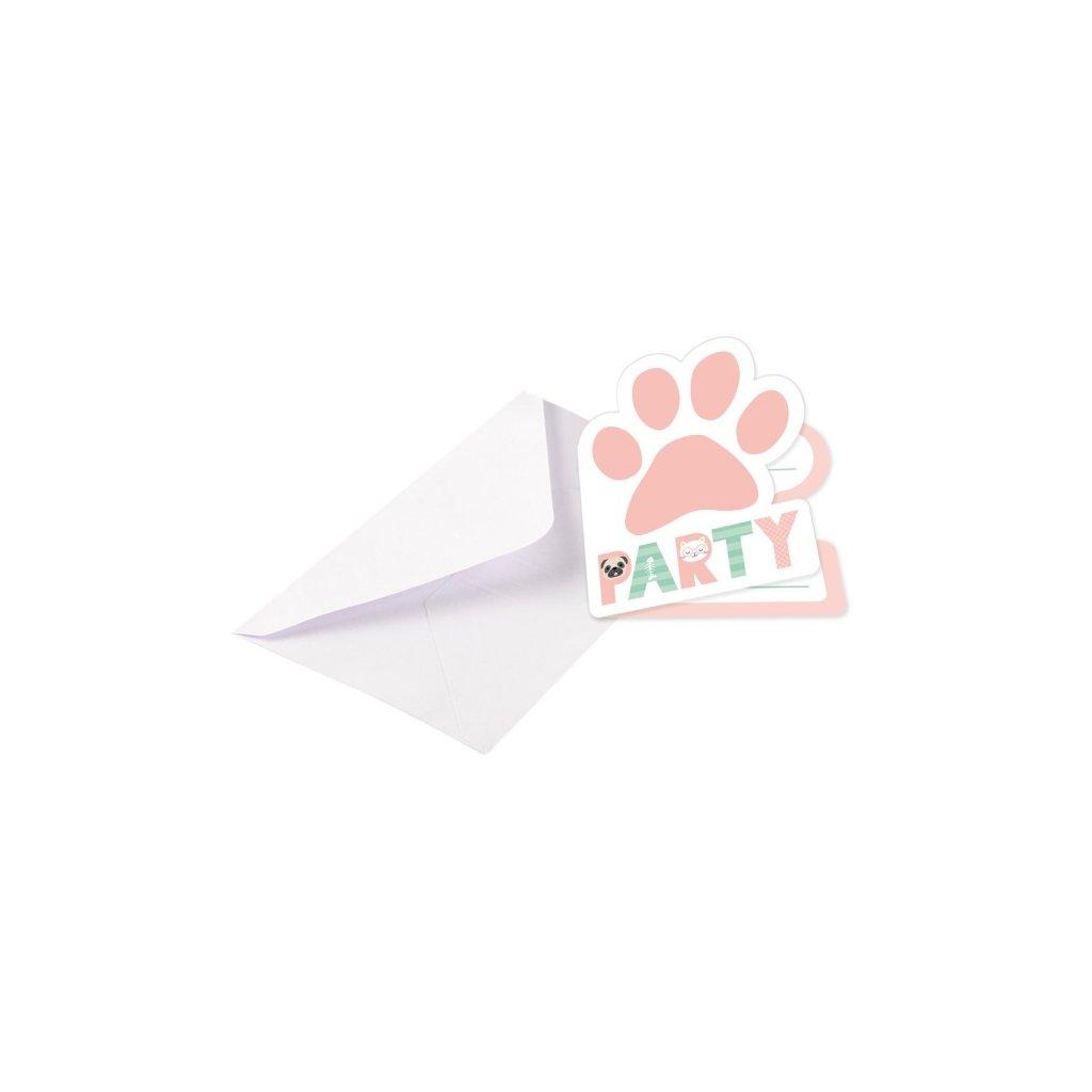 Pozvánky s obálkami Hello Pets 8 ks