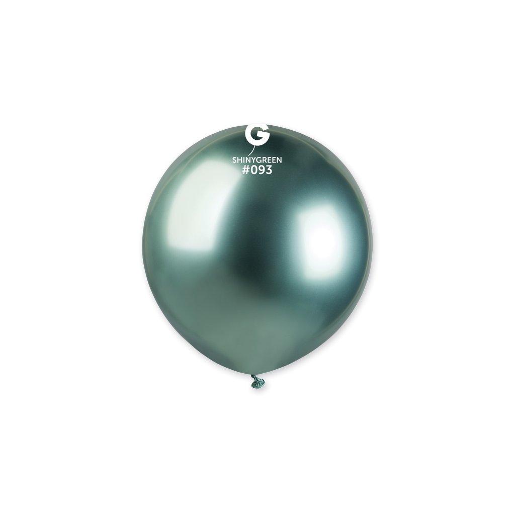 Balonek latexový chromový zelený 48cm 1ks