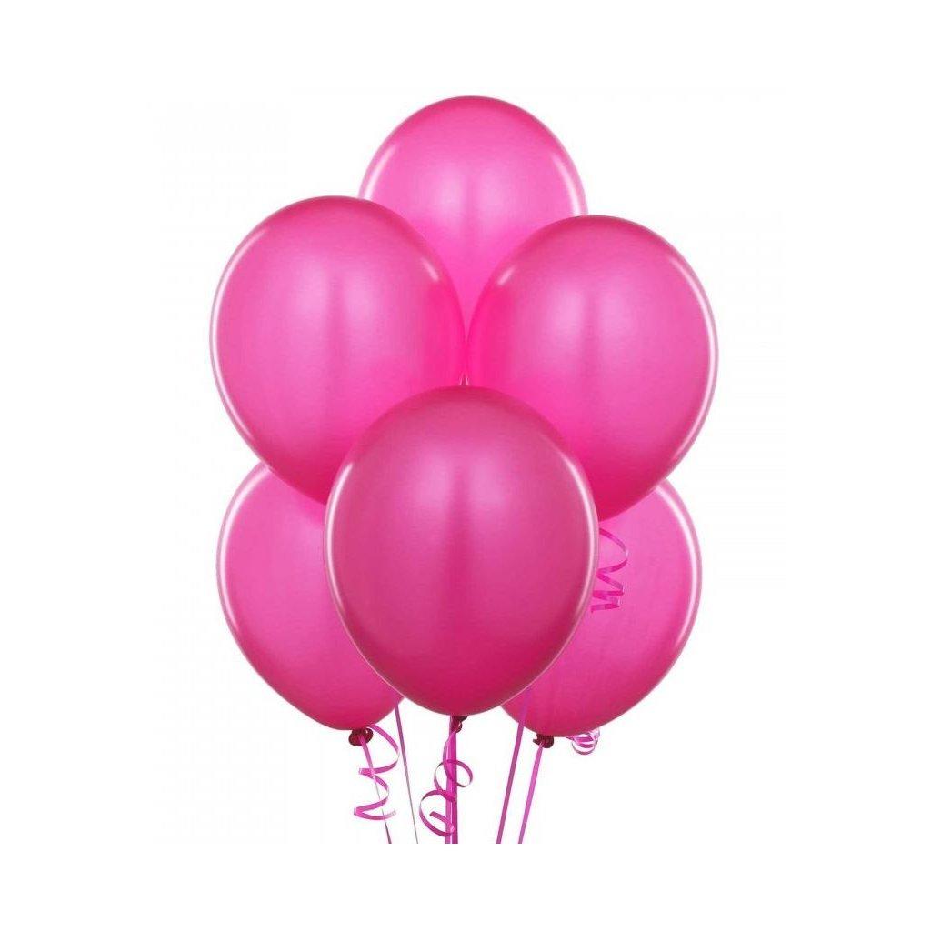 BALONKY tmavě růžové pastelové 10ks