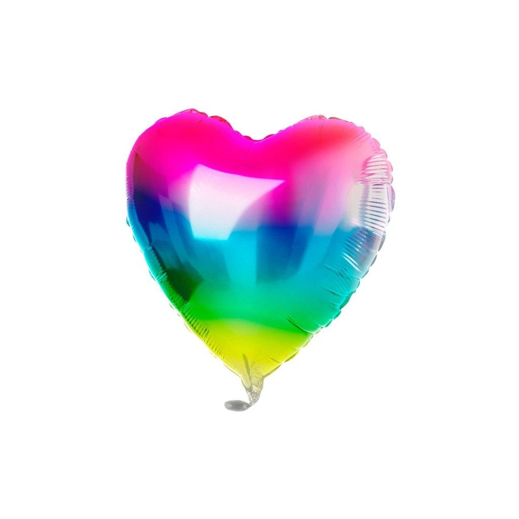 Balonek duhový Srdce  Rainbow 45cm