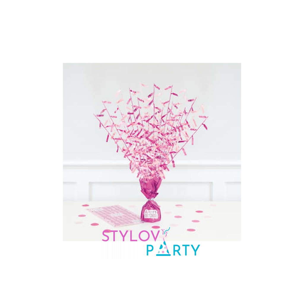 TĚŽÍTKO na balónky střapaté růžové
