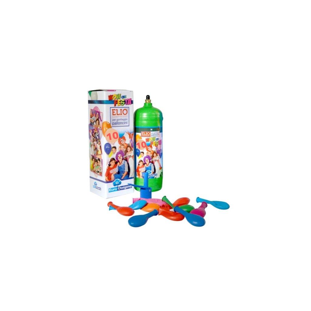 Helium do 10 balonků (balonky součástí balení)