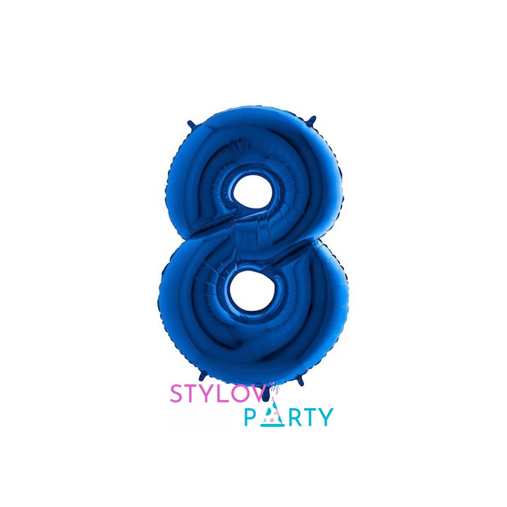 Balón fóliové číslo modré 8 105 cm