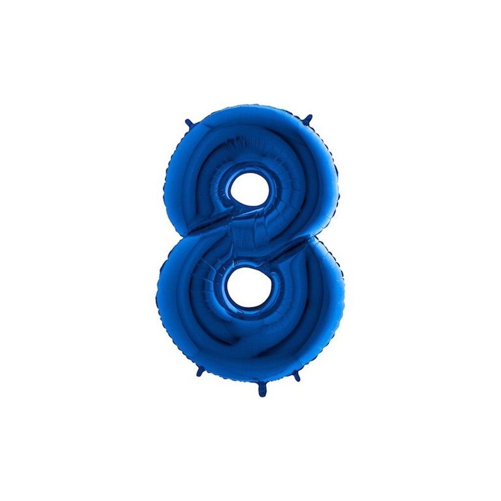 Balonek foliová číslice 8 modrá  velká 105cm