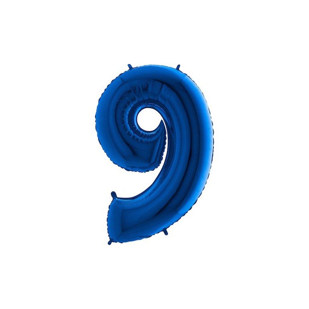 Balonek foliová číslice 9 modrá velká 105cm