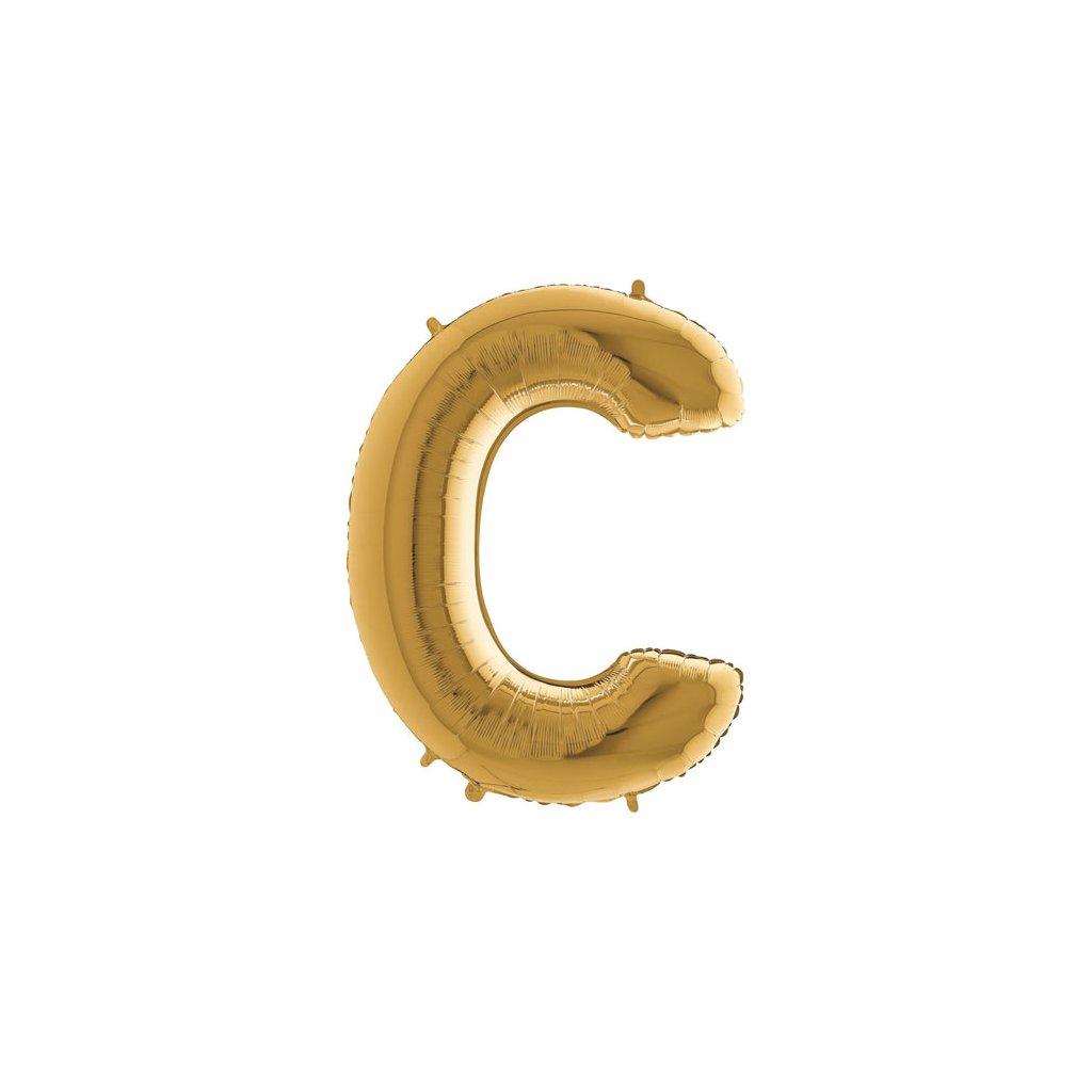 Balónek zlatý písmeno C