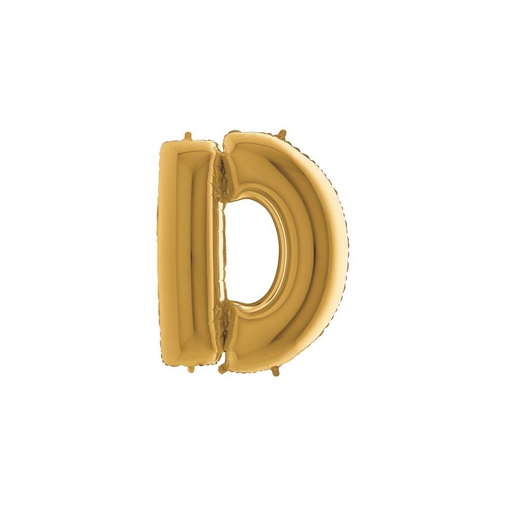Balónek zlatý písmeno D