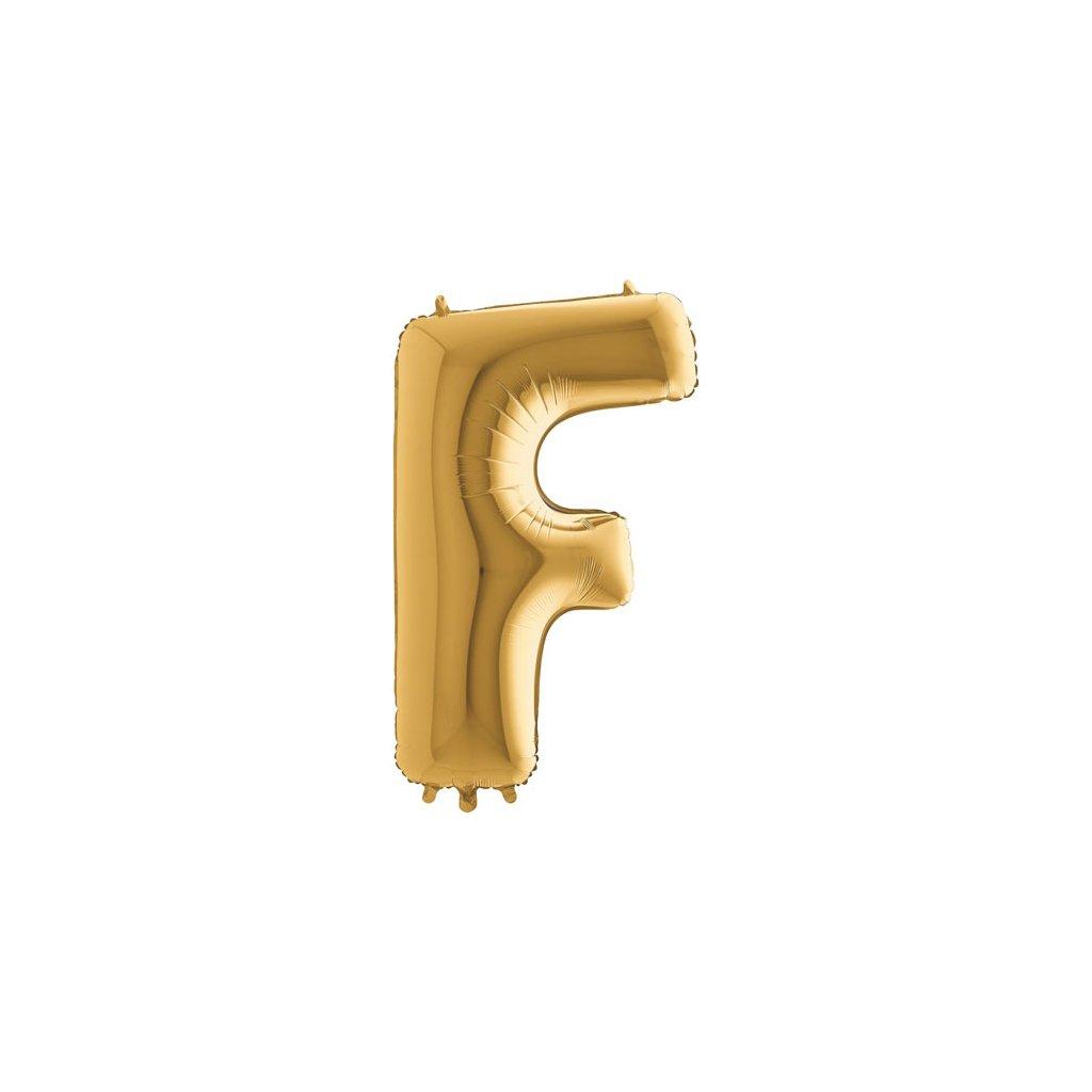 Balónek zlatý písmeno F