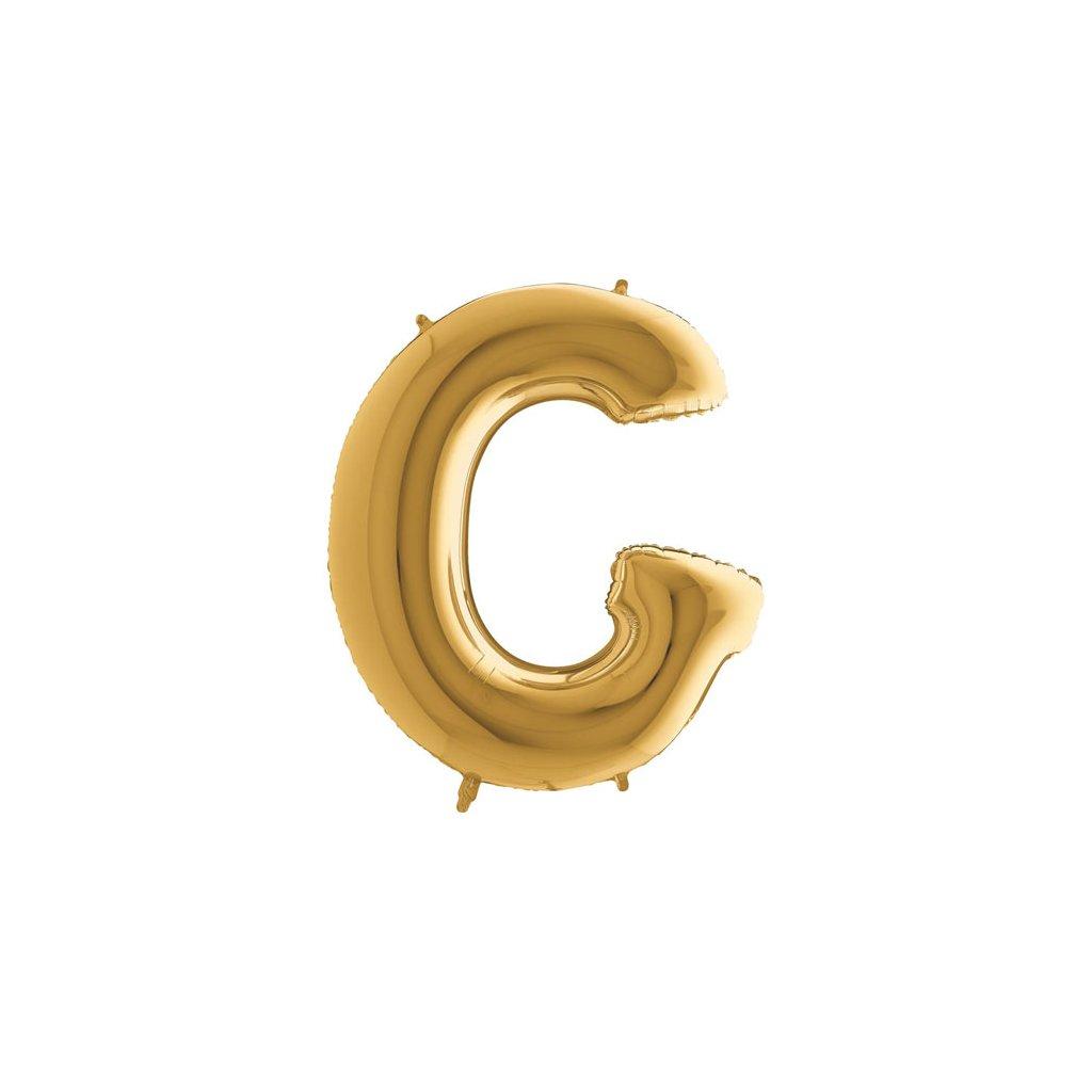 Balónek zlatý písmeno G
