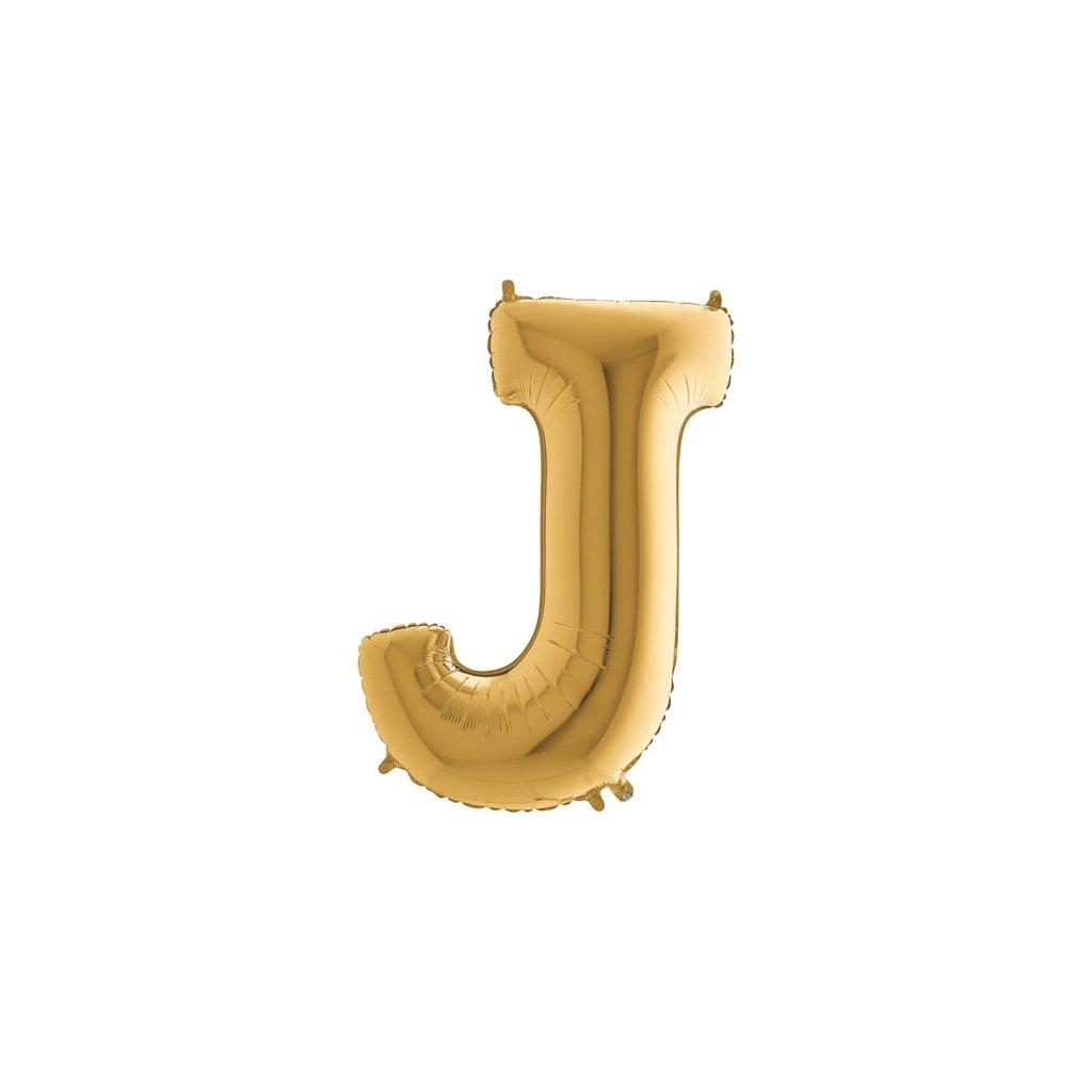 Balónek zlatý písmeno  J