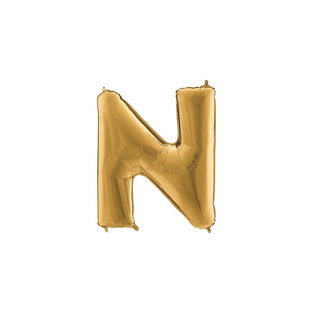 Balónek zlatý písmeno  N