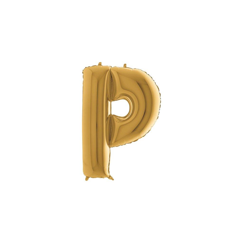 Balónek zlatý písmeno  P