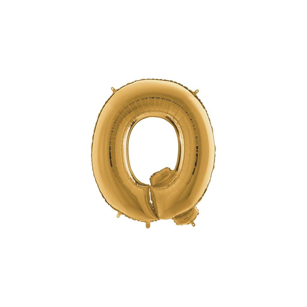 Balónek zlatý písmeno  Q