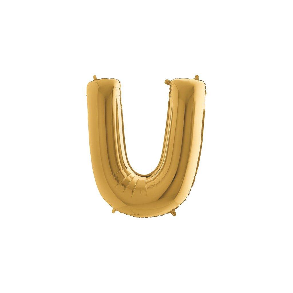 Balónek zlatý písmeno U