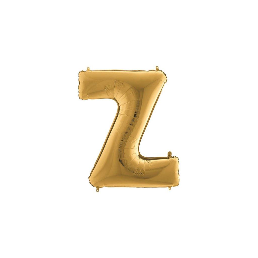 Balónek zlatý písmeno Z