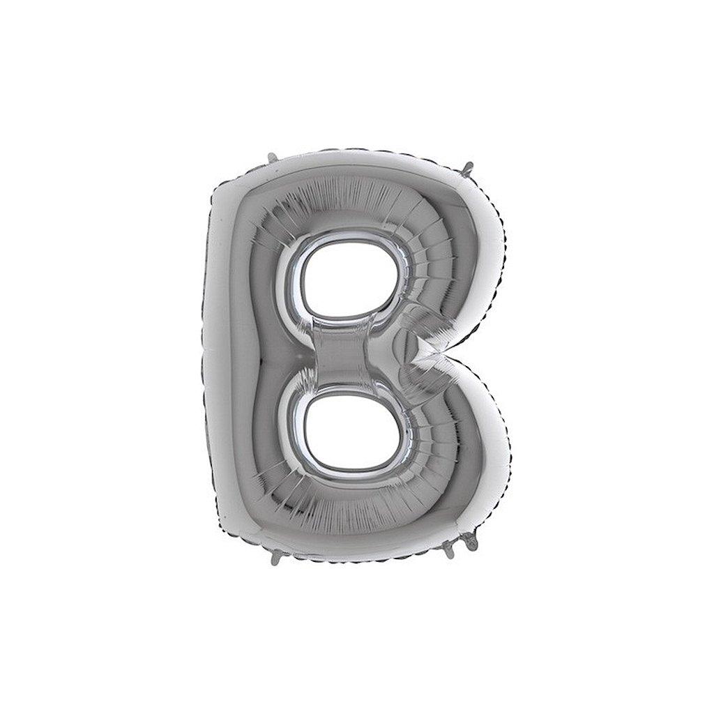 Balónek stříbrný písmeno B