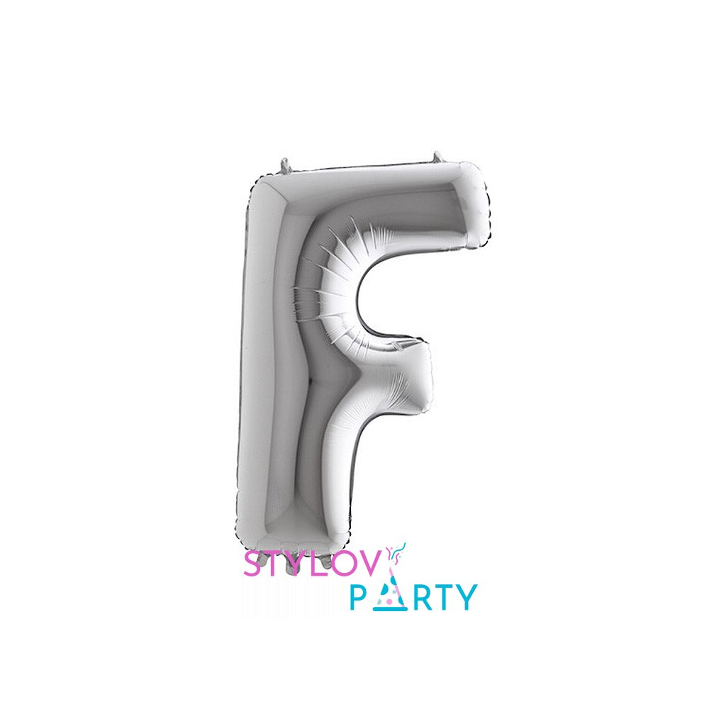 Balónek stříbrný písmeno F