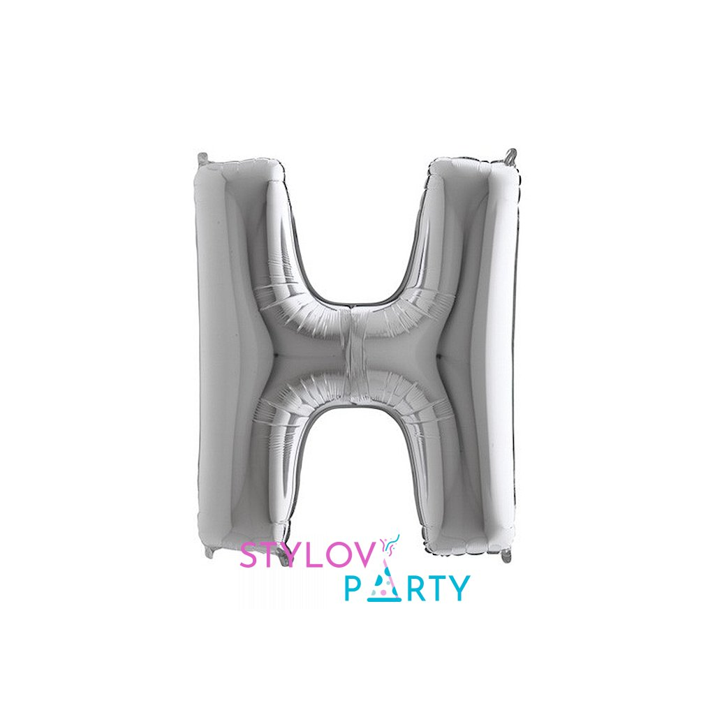 Balónek stříbrný písmeno H