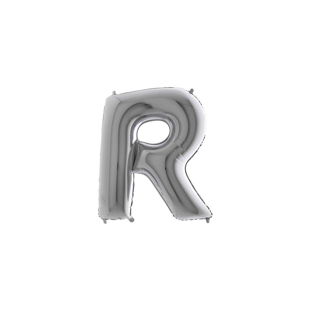 Balónek stříbrný písmeno R
