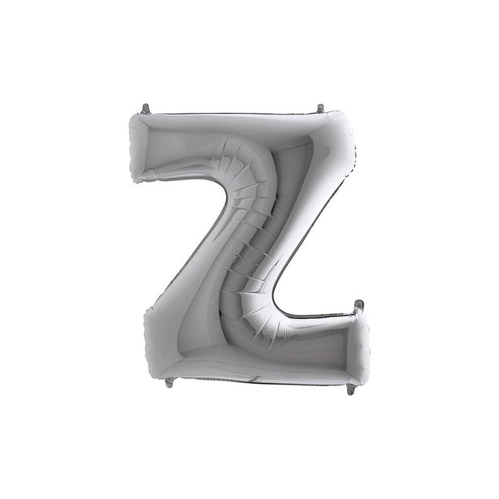 Balónek stříbrný písmeno Z